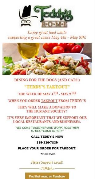 Teddy's Takeout @ Teddy's Restaurant